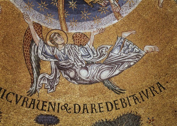 24.Мозаика центрального купола собора Сан-Марко. XII в. Венеция. Фрагмент