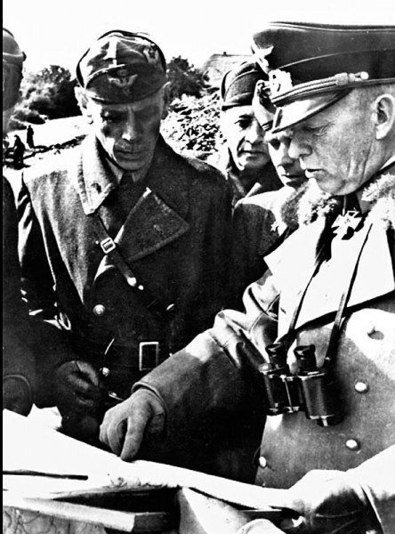 26. Командующий 1-й танковой армией Э. Клейст