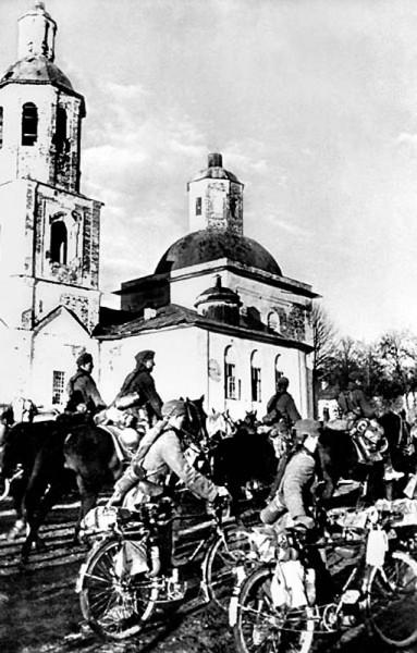 43. Фашистские войска вступают в Вязьму. 7 октября 1941 г.