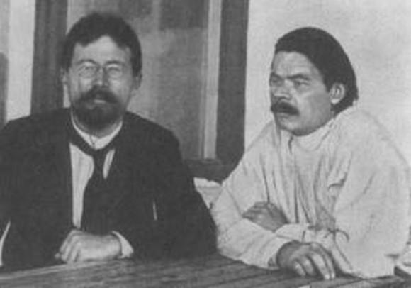 А.П. Чехов и Максим Горький