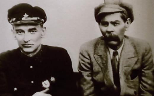 Комиссар государственной безопасности Глеб Бокий и Максим Горький