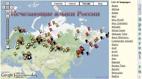 Исчезающие языки России