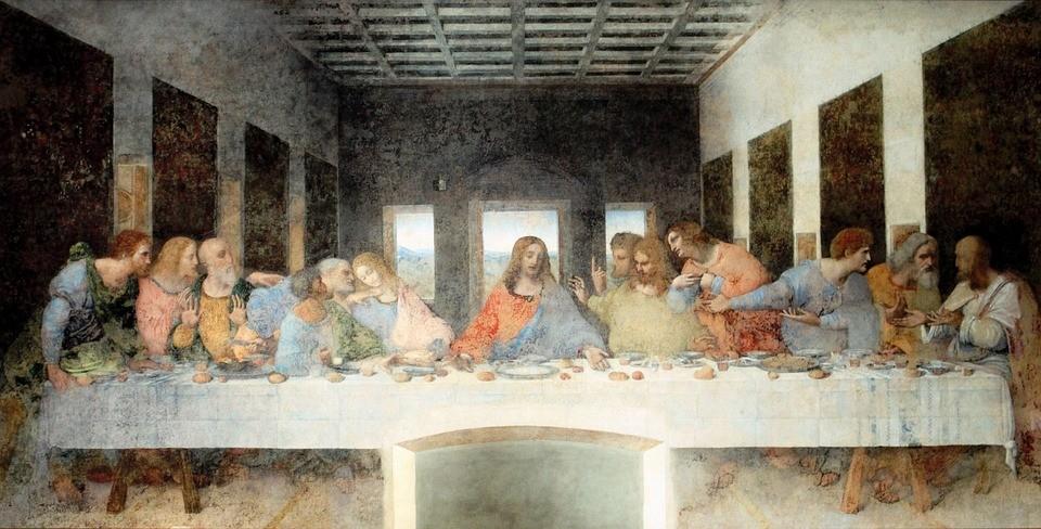 """Первый Вселенский собор. Картина """"Тайная вечеря"""""""
