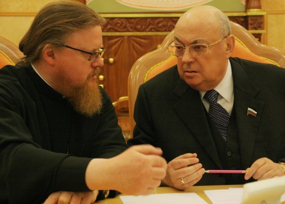 С епископом Подольским Тихоном