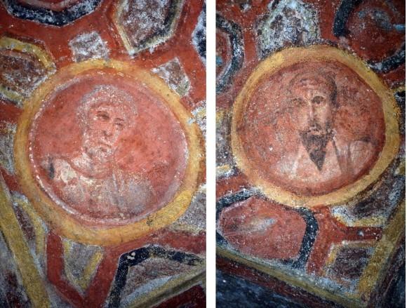 Фрески в катакомбах св.Феклы. 2-ая пол. IV - 1-ая пол.V в. Рим. Совмещенные фрагменты
