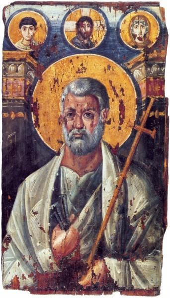 Энкаустическая икона. VI в. Монастырь св.Екатерины, Синай, Египет