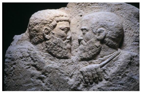 Рельеф на камне. IV-V в. Национальный археологический музей Аквилеи, Италия