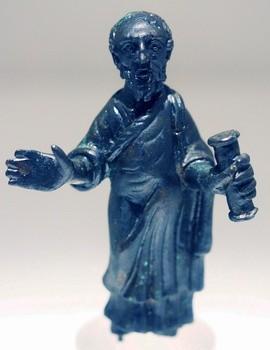 Ап. Павел. Бронзовая статуэтка. Рим. IV в. Национальный археологический музей Кальяри, Италия
