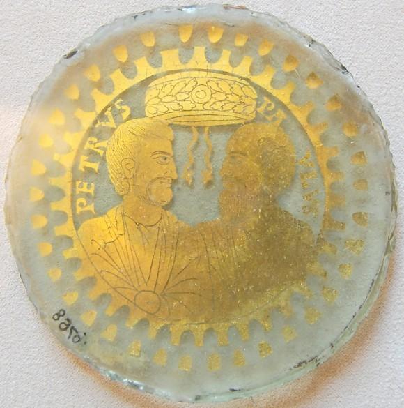 Донце поминального сосуда. Рим. IV в. Музеи Ватикана