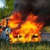 Под Калининградом прохожий спас пять человек из горящего автомобиля