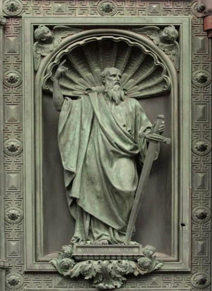Иван (Джованни) Витали. Ап. Павел. Западные двери Исаакиевского собора. 1841-1846 г. Фрагмент