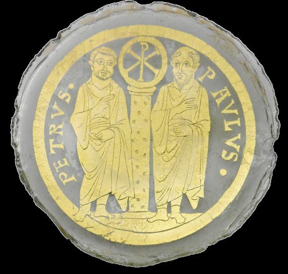 Донце поминального сосуда. Византия, Константинополь. Поздний IV в. Метрополитен-музей, Нью-Йорк, США