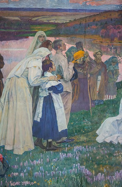 """16.Полотно """"Путь ко Христу"""" было сделано Нестеровым на медных листах"""