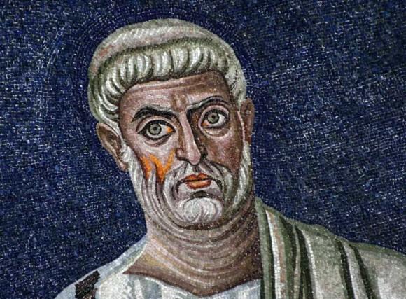 Мозаика апсиды базилики св. Космы и Дамиана. Первая треть VI в. Рим Фрагмент