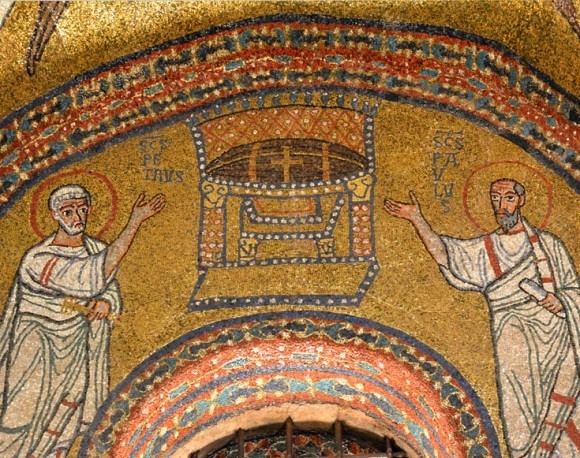 Мозаика капеллы Сан Дзено церкви Санта Прасседе. 817-824 г. Рим