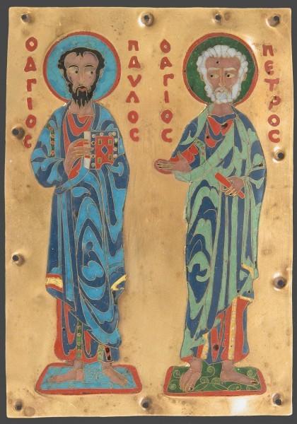 Стилизация под византийскую эмаль. XIX в. Метрополитен-музей, Нью-Йорк, США