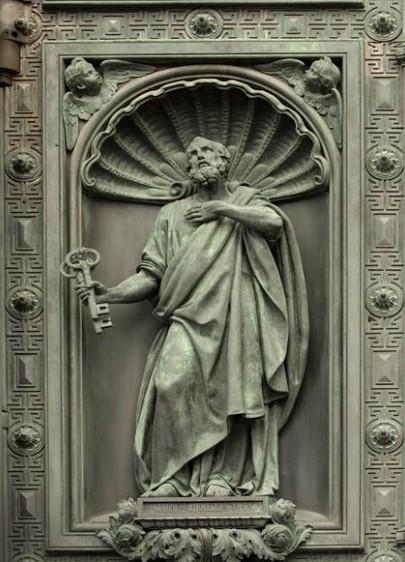 Иван (Джованни) Витали. Ап. Петр. Западные двери Исаакиевского собора. 1841-1846 г. Фрагмент