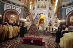 Крест апостола Андрея Первозванного в Москве (фоторепортаж)