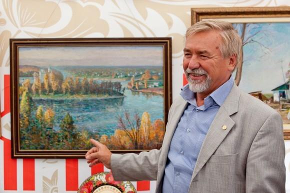 В павильоне Украины была организована выставка заслуженного художника России Виктора Демьянчука