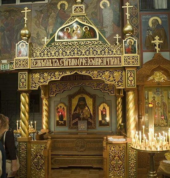 Рака с мощами свт.Иоанна Шанхайского. Фото: Православие.ru