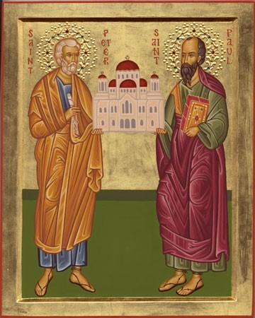 Картинки по запросу апостолы павел и петр икона