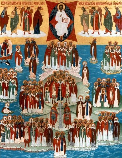 Икона всех святых, в Британии и Ирландии просиявших