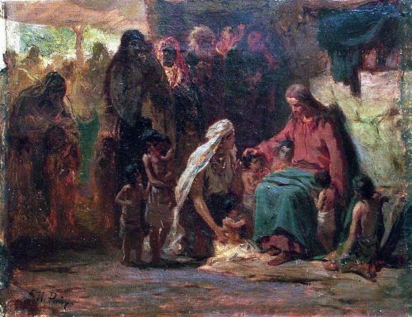 Благословение детей. 1890-е