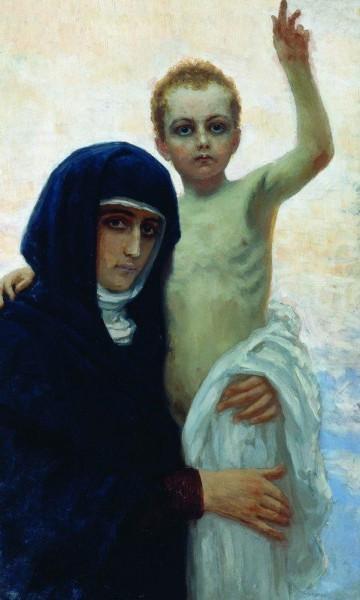 Богоматерь с младенцем. 1896