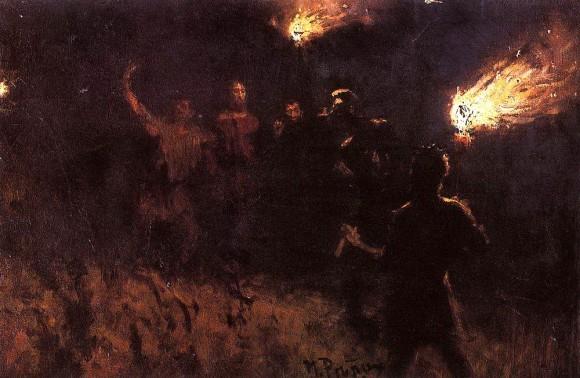 Взятие Христа стражею. 1886