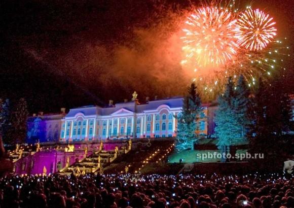 Закрытие фонтанов в Петергофе 2012