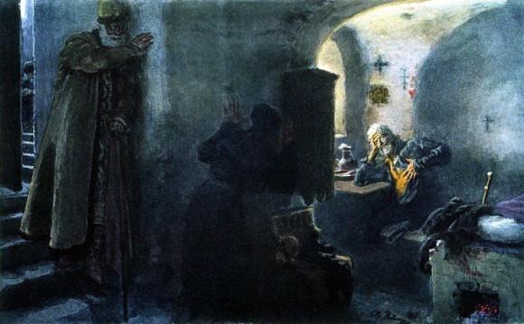 Инок Филарет в заточении в Антониево- Сийском монастыре.1888