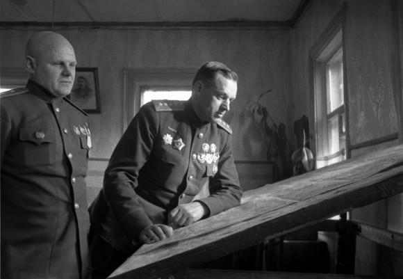 К.К. Рокоссовский и К.Ф. Телегин