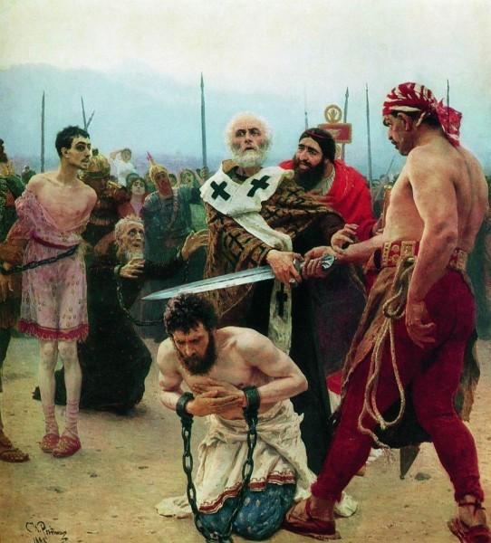 Николай Чудотворец из Миры в Ликии избавляет от смерти трёх невинно осуждённых. 1888-89