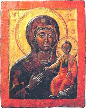 Влахернская икона. Воскомастика. XIII - XIV в. Успенский собор Московского Кремля