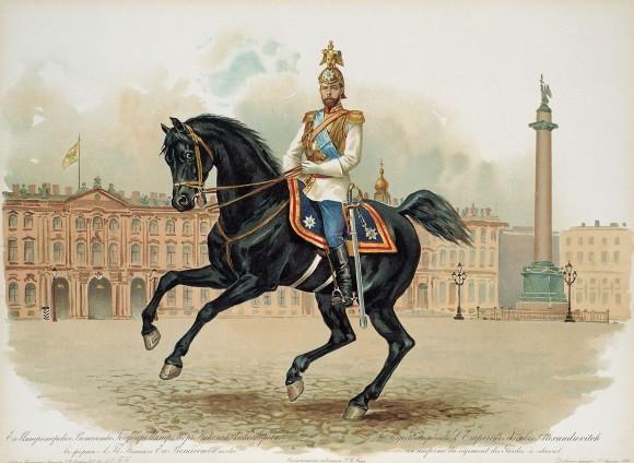 Николай II в парадной форме Лейб-гвардии Конного полка