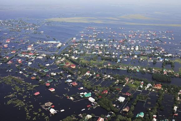 Наводнение в Амурской области. Съемка с вертолета. Иван Белозеров/РИА Новости