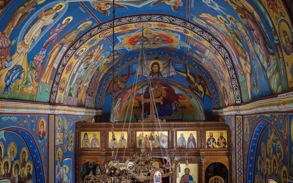 Роспись храма была обновлена в 2007 году