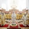 Патриарх Кирилл совершил освящение верхнего храма Троице-Владимирского собора Новосибирска