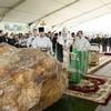 Патриарх Кирилл освятил закладной камень храма прп. Сергия Радонежского на Федеральном военном мемориальном кладбище