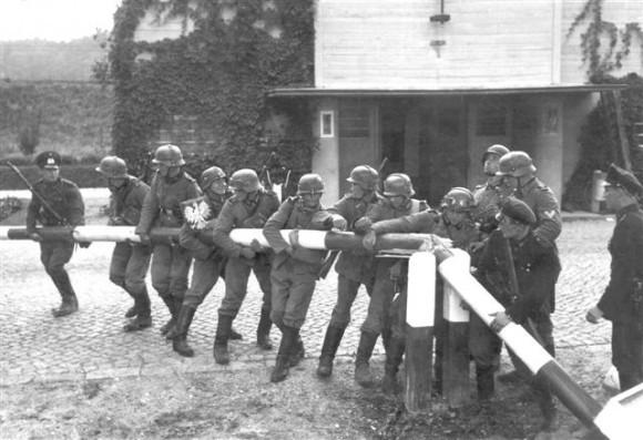 Немцы переходят польскую границу