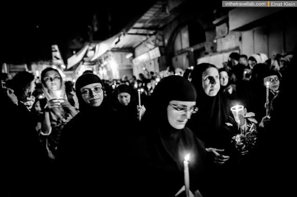 Перенос иконы Богородицы в Иерусалиме накануне Успения