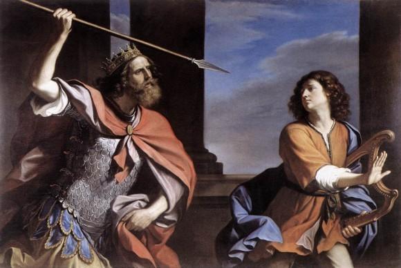 Гверчино. «Саул мечет в Давида копьё»