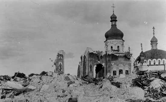 Руины Успенского храма. 1941 г.