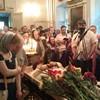 В Пскове проходит Литургия, после которой состоится отпевание отца Павла Адельгейма