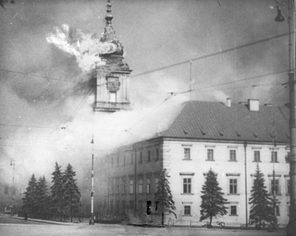 Горящая Варшава