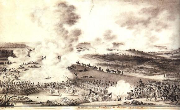 А.И. Дмитриев-Мамонов. 1812 г. Рисовано во время сражения