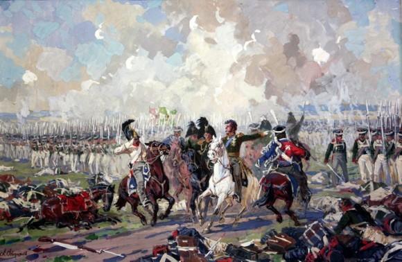 А. Аверьянов. Князь П.И. Багратион в Бородинском сражении. Последняя контратака
