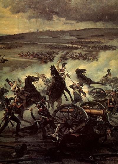 Мазуровский В. Атака русской кавалерии на французскую батарею в сражении при Бородине