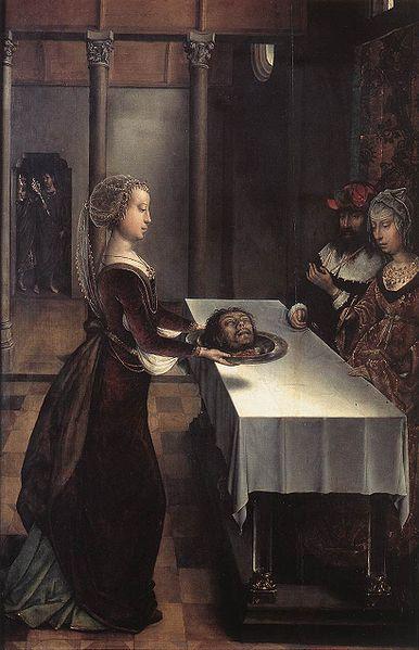 Усекновение главы Иоанна Предтечи. Месть Иродиады. Картина Хуана Фландеса