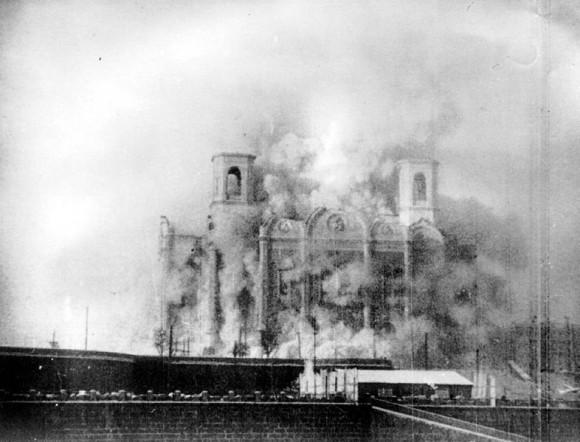 Разрушение Храма Христа Спасителя. 1931